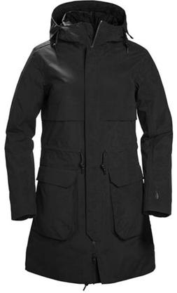 $451 Helly Hansen Womens Black Boyne Weatherproof Hooded Zip