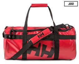 HELLY HANSEN 50L DUFFEL BAG RED COLORWAY WATER RESISTANT NWT