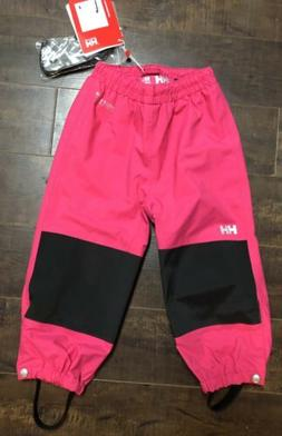 Helly Hansen Pink Shelter Pants Snow Water Pants Kids Youth