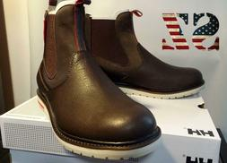 Helly Hansen Boots Mens Nordnes Leather Rubber~Size 9.0~ Bro