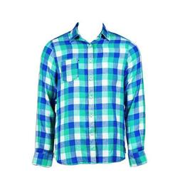 Helly Hansen Checkered Print Dress Shirt Men's Clothing Appa