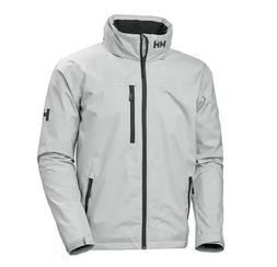 helly hansen CREW HOODED MIDLAYER JACKET GREY US MENS SIZES