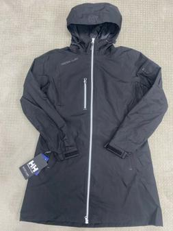 Helly Hansen Women Long Belfast Rain Winter Jacket Black M