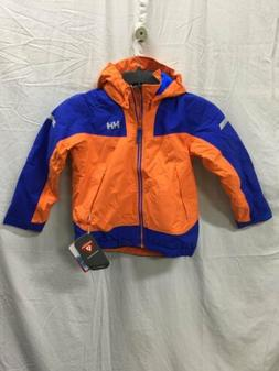helly kids velocity jacket orange blue 134