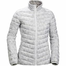 HH Helly Hansen Womens Jasico White/Gray Down Puffer Jacket