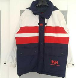 HELLY HANSEN JACKET PARKA WHITE BLUE RED 12 149 SAILLING HOO
