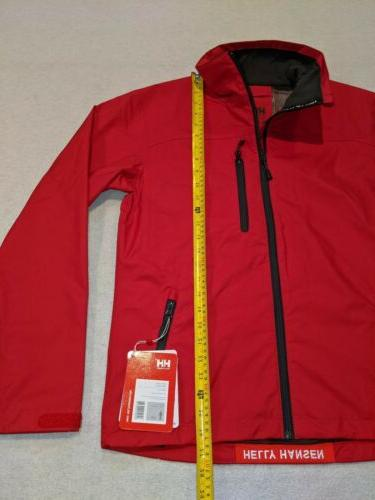 NWT Helly Tech Crew Sailing Waterproof Breathable Red Men's S