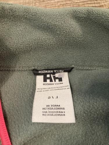 Helly Hansen Green Pink Pullover Jacket Large