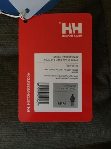 Helly Hansen Down Parka Color New With Tags!