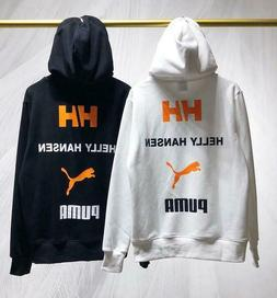 Men Puma Helly Hansen HH hoodie embroidery print pullover wi