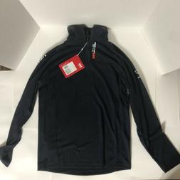 Helly Hansen Men Navy Blue with Red and White Writing 1/2 Zi