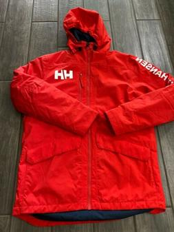Helly Hansen Men's Active Fall 2 Insulated Parka Jacket Red