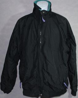 Mens HELLY HANSEN BLACK GREEN Zip Up WINDBREAKER LIGHT JACKE