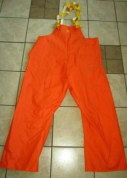 NWT HELLY HANSEN HH ALL PURPOSE WATERPROOF ORANGE RAIN BIBS
