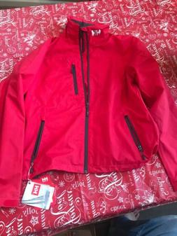 *NWT* Mens Helly Hansen Crew Waterproof Jacket 30263-162 Red