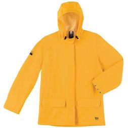 HELLY HANSEN Polyester, PVC Rain Jacket,Unrated,Yellow,6XL,