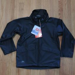 Helly Hansen Rain Coat Boys Size XL Black Waterproof Hooded