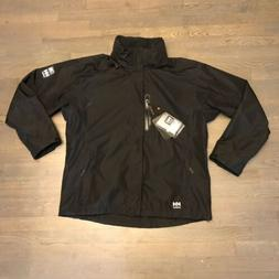 HELLY HANSEN WORKWEAR HAAG BLACK NOIR WATERPROOF HOODED JACK